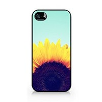 Vintage Sunflower - iPhone 4/4S Black Case (C) Andre Gift Shop
