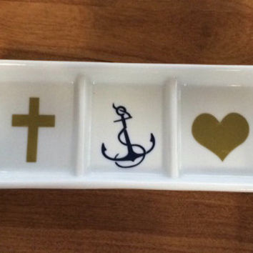Personalized Ring Dish. Divided Ring Tray. Gift, Ring Tray, Jewelry Tray, Jewelry Dish, Monogram, Wedding, Etc.