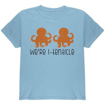 LMFCY8 Octopus We're Identical Itenticle Twins Funny Pun Youth T Shirt