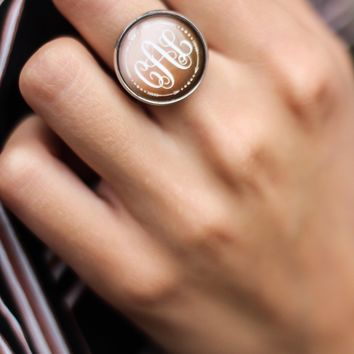 Monogram Arrow Ring - Copper 20mm