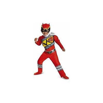 Disguise Costumes Power Rangers Dino Charge Red Ranger Muscle Toddler Costume -