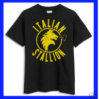 Italian Stallion Rocky balboa Black Tshirt by CasualApparel