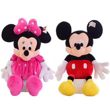 1pc Hot sale 50cm Classic Mickey Mouse & Minnie Mouse Stuffed Animal Cartoon Plush Toys for Children's Gift Kids Love Doll