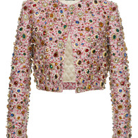 Metallic Jacquard Jewel Cropped Jacket | Moda Operandi