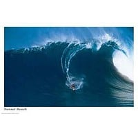 (24x36) Sunset Beach (Surfing Big Wave) Art Poster Print