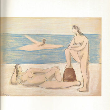 "Pablo Picasso 1972 Vintage Lithograph Signed on the Plate Entitled ""Femme Nue Couchee"", Original is circa 1954 - From Sari Heller Gallery"
