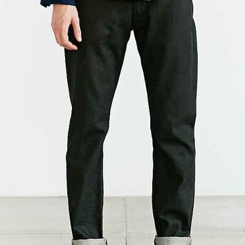 Lee 101B-15 Gunsmoke Straight Selvedge Jean- Black