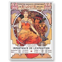 Alphonse Mucha -  World's Fair 1904  St. Louis Post Cards from Zazzle.com