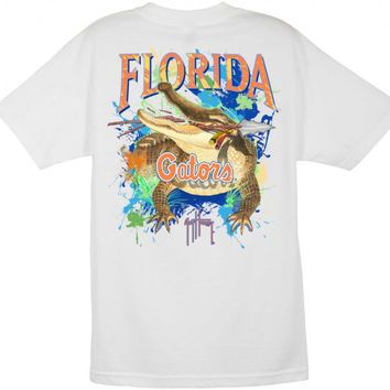 NCAA Florida Gators White Guy Harvey T-Shirt