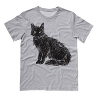 Scribbled  Black Cat Shirt