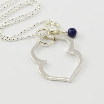 Third Eye Chakra Necklace in Sterling Silver