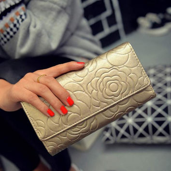 Excellent quality Hot Fashion Women Wallets Purses Day Clutch Ladies Elegant Leather Wallet Handbag Hand Bags for Gift