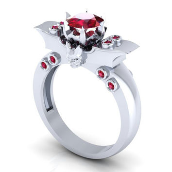 Batman Engagement Skull Ring 10 k