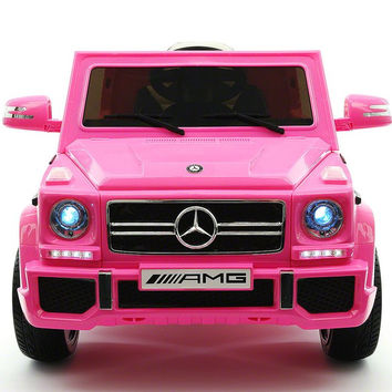 Mercedes Benz G65 AMG 12V Battery Powered Ride On Toy Car with MP3 and R/C Pink