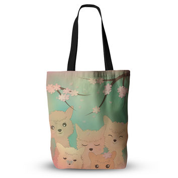 "Graphic Tabby ""Spring Alpacas"" Pastel Animals Everything Tote Bag"