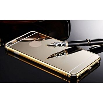 Aroko ABC Aluminum Mirror Case Cover for iPhone 6 (4.7- Inch) - Gold