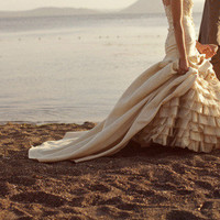 beach, beach wedding, couple, dress, dresses, fashion - inspiring picture on Favim.com