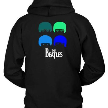 LMF1GW The Beatles Cartoon Hoodie Two Sided