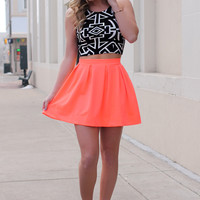 No Comparison Skirt - Neon Coral
