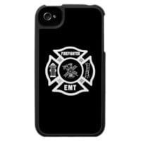 Firefighter EMT White Iphone 4 Case from Zazzle.com