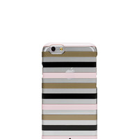 Kate Spade Watch Hill Stripe Clear Iphone 6 Case Gold/Pastry Pink