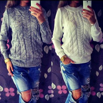 Aluna Knit Sweater - Women Long Sleeve Loose Sweater Knitted Cardigan Coat Jacket Outwear Casual New