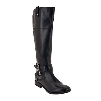 Marc Fisher Audrey Wide Calf Leather Riding Boots
