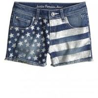 Stars And Stripes Glitter Denim Shorts | Girls Shorts Clothes | Shop Justice