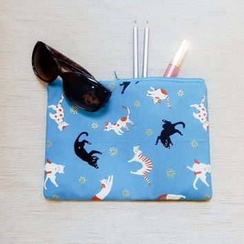 Pencil Case/ Make Up Bag/ Cat Gift for Her/ Gift for Women/ Gift for Mom/ Sister Gift/ Girlfriend Gift/ Teacher Gift/ Pouch/ Back to School