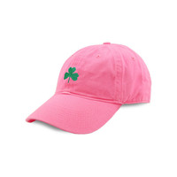 Shamrock Needlepoint Hat in Pink by Smathers & Branson