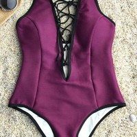 Cupshe Cute Meet Lace Up One-piece Swimsuit