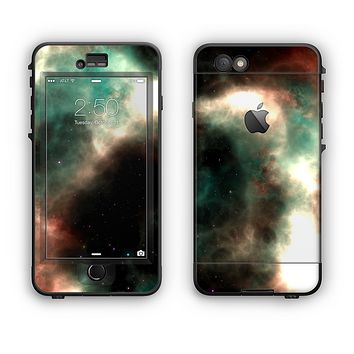 The Dark Green Glowing Universe Apple iPhone 6 LifeProof Nuud Case Skin Set