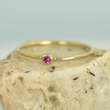 Tiny Ruby Ring, Ruby Stacking Ring, Solid 14k Gold Ruby Ring, Ruby Mothers Ring, July Birthstone, Ruby Ring, Dainty Ruby, Dainty Gold Ring