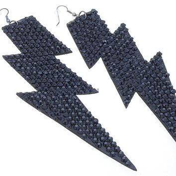 Long Thunder Bolt Earrings
