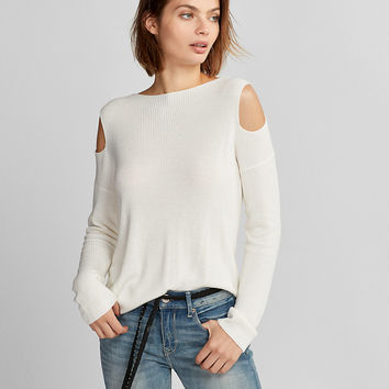 R29 Editor Pick Cold Shoulder Pullover Sweater