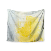 "CarolLynn Tice ""Stability"" Yellow White Wall Tapestry"