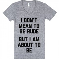 Mean To Be Rude-Unisex Athletic Grey T-Shirt