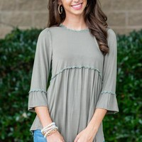Flower Child Top, Olive