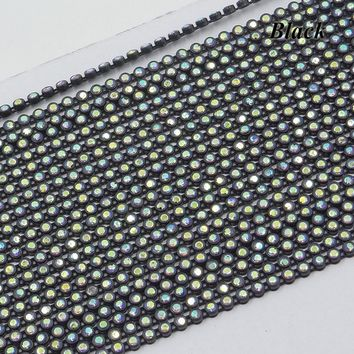 10 yds Crystal Rhinestone Beaded Chain Trim Cosplay Costumes Wedding
