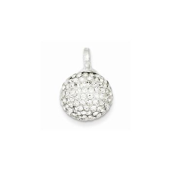 Sterling Silver Stellux Crystal 12mm Ball Pendant