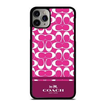 COACH PINK NEW YORK iPhone Case Cover