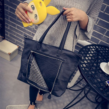 Autumn Vintage Punk Rivet Bags Ladies Shoulder Bags [6582269127]