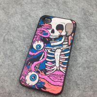Skeletons Out Eyeballs Hard Cover Case For Iphone 4/4s