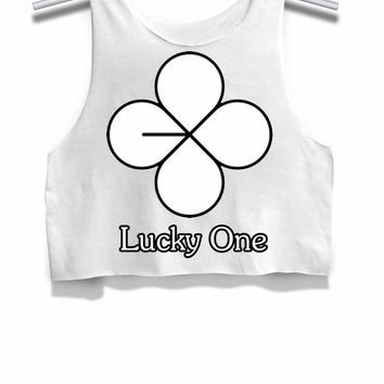 Exo Lucky One Womens Crop Tank Top