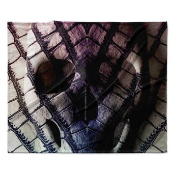 "Danny Ivan ""Skull"" Dark Purple Fleece Throw Blanket"