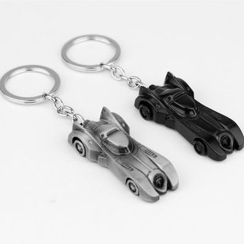 2 Colors DC The Dark Knight Batman Car Keychain Batmobile Batman Vs Superman Alloy Pendant Toy Keyring Bat Man Key Chain Ring
