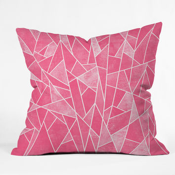 Elisabeth Fredriksson Shattered Rose Throw Pillow