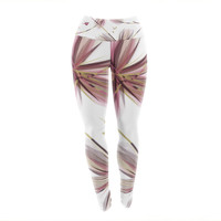 "Alison Coxon ""Flower Aubergine"" Yoga Leggings"