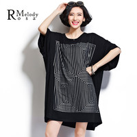 4XL 5XL Plus Size Women Tops and Shirts Casual Style Geometric Maze Short Sleeve Loose Cotton Shirts for Women(R.Melody DS0014)