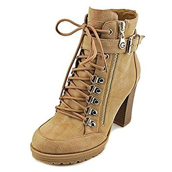 G by GUESS Women's Grazzy Combat Ankle Boots